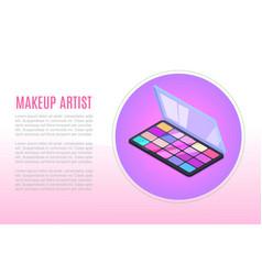 Proffecional makeup for artists cosmetics vector