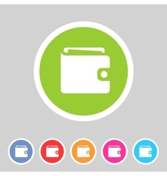 Purse wallet icon flat web sign symbol logo label vector image