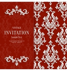 Red Floral 3d Christmas and Invitation vector image