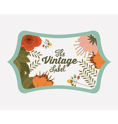 Retro and Vintage label design vector image