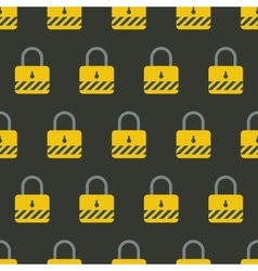Seamless endless pattern with safety padlock vector