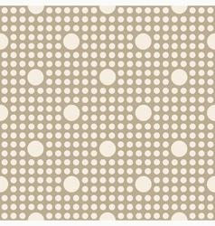 Seamless geometric polka dot pattern vector