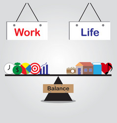 Seesaw of work life balance vector