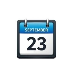 September 23 Calendar icon vector