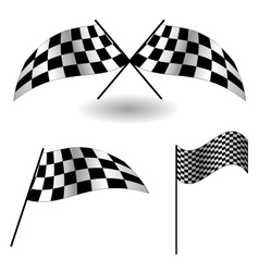 Set of checkered Flags vector