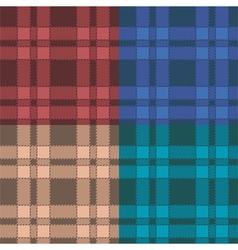 Set of seamless patterns with plaid vector