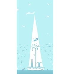 ship sinks vector image