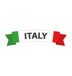 simple made in italy symbol colored italian vector image