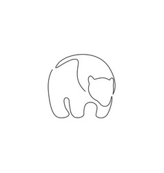 single continuous line drawing wild elegant vector image