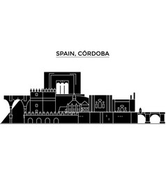 spain cordoba architecture city skyline vector image