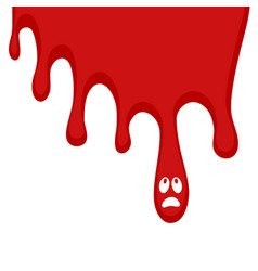spot blood vector image