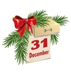 Tear-off calendar on 31 December New Years Eve vector