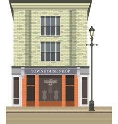 Townhouse shop vector
