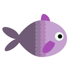 Tropical fish flat on white vector
