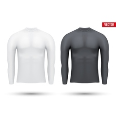 Under layer compression shirt with long sleeve of vector