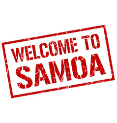 Welcome to samoa stamp vector