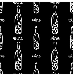 wine seamless pattern vector image