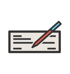 Write Cheque vector