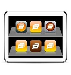Chat orange app icons vector image