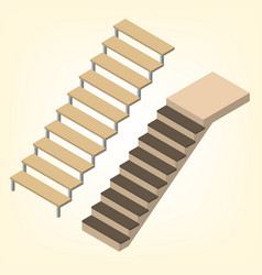flight of stairs isometric vector image vector image