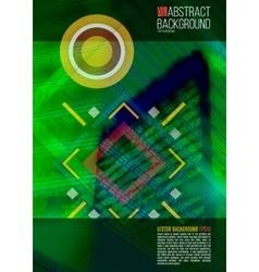 Green annual report leaflet brochure flyer vector