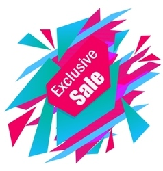 Limited offer mega sale geometrical ultra modern vector