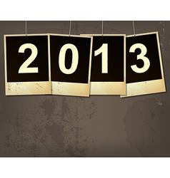 new year 2013 grunge background vector image