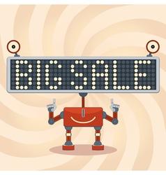Robot Sale Background vector image vector image