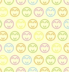 Seamless pastel Smile Symbol vector image vector image