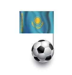 Soccer Balls or Footballs with flag of Kazakhstan vector image vector image