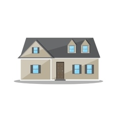Suburban family house countrysdie wooden building vector