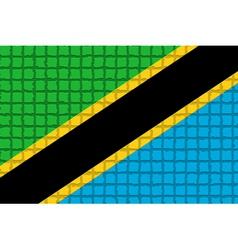 The mosaic flag of Tanzania vector image vector image