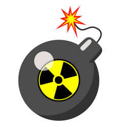 atomic bomb isolated vector image vector image