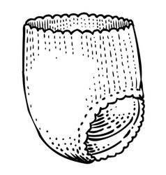 cartoon image of diaper icon nappy symbol vector image