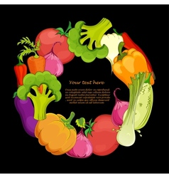 food round background vector image