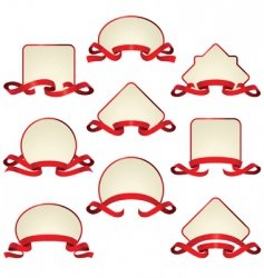 frames and ribbons vector image vector image