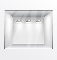 Glass shop gallery with lights vector