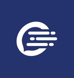 letter c chat logo vector image