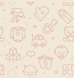 pastel seamless baby pattern vector image
