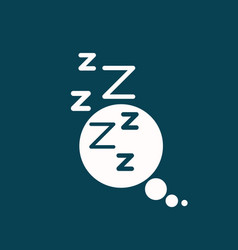 White background of speech bubble of dreaming vector