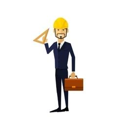 Building Process Success Engineer vector image vector image
