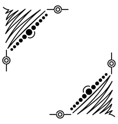Doodle abstract handdrawn corners frame vector image