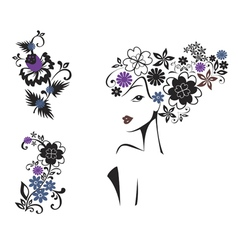 elegant woman vector image vector image