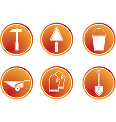 flat tools icon vector image vector image