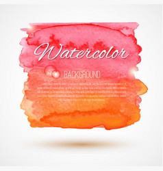 hand drawn watercolor backdrop vector image