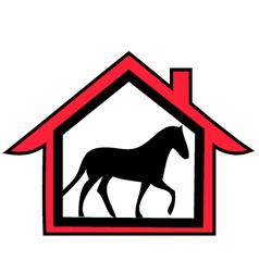 horse farm logo vector image