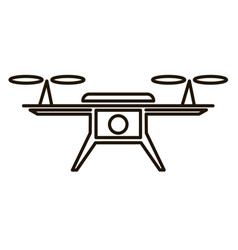 photo and video air drone icon vector image vector image