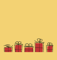 present boxex background vector image vector image