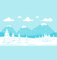 winter background in snowfall vector image