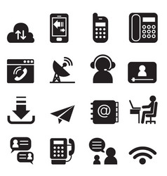 communication technology icons set 2 vector image